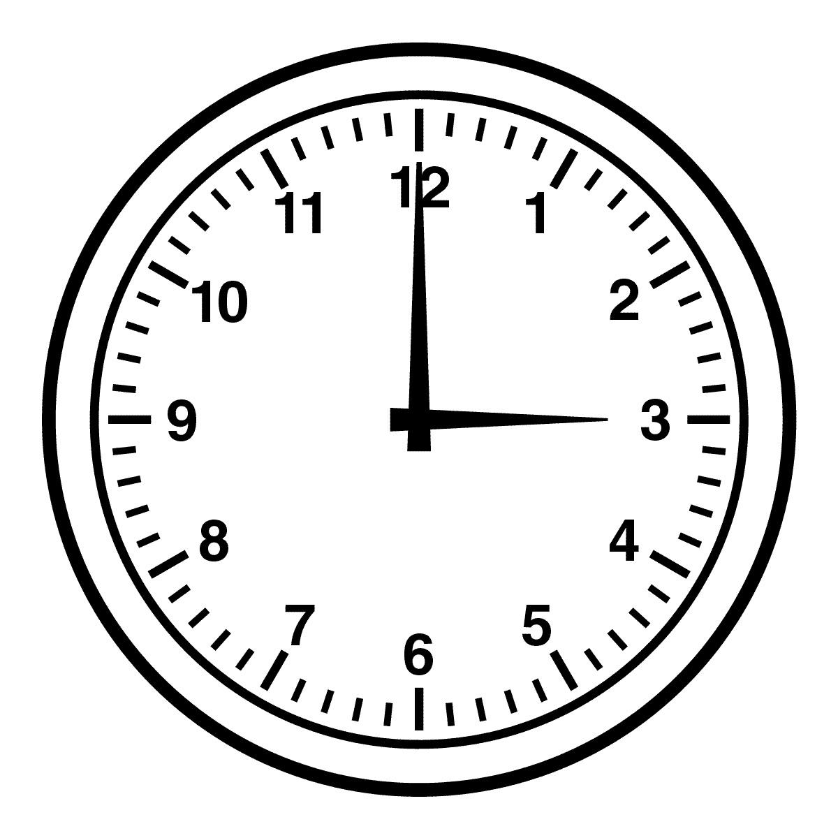 clip art clock face