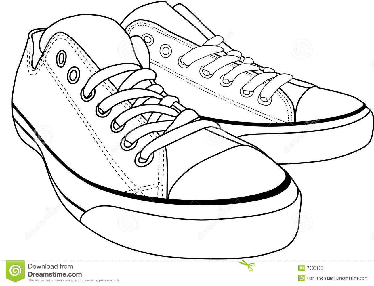 clip art converse shoes .