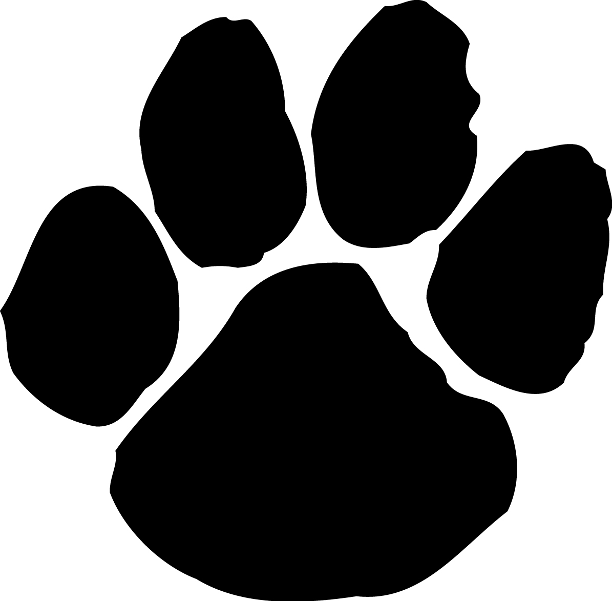 Clip Art Dog Paw Print - Clipart library