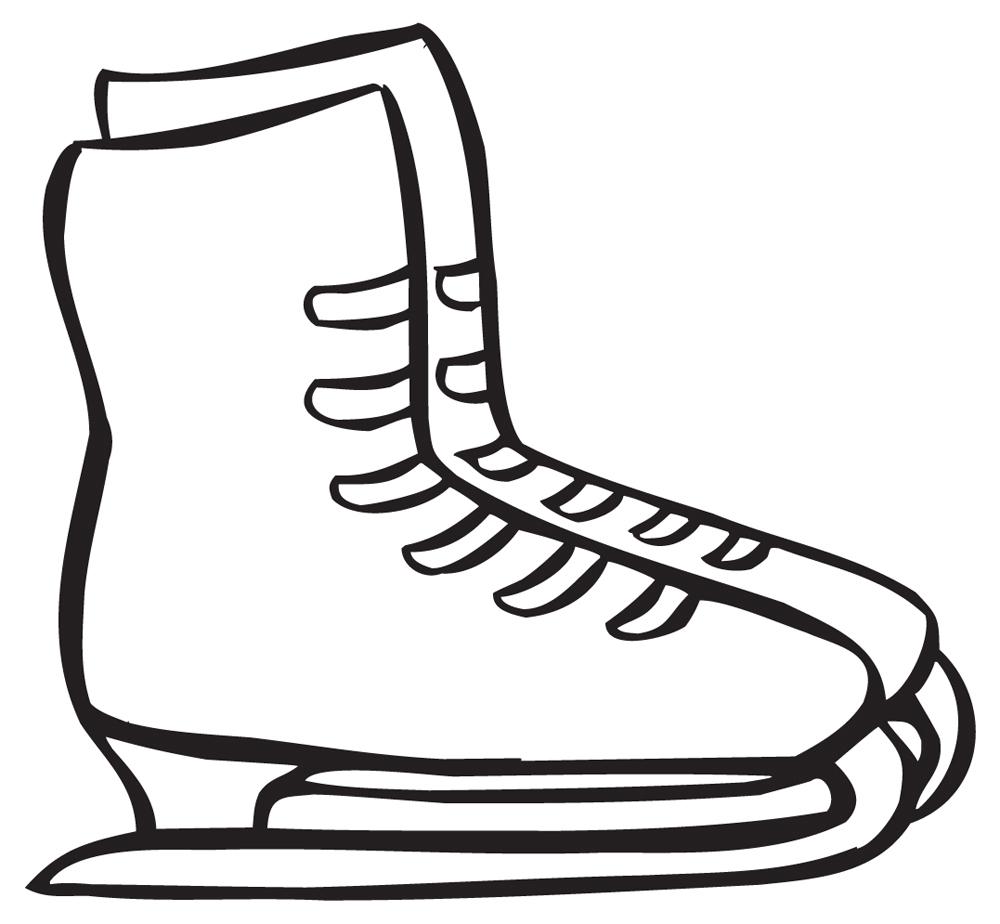 Clip Art Figure Skate Free .