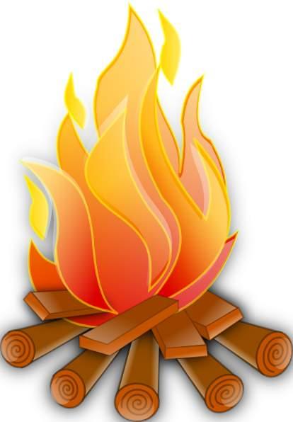Clip art fire clipart image