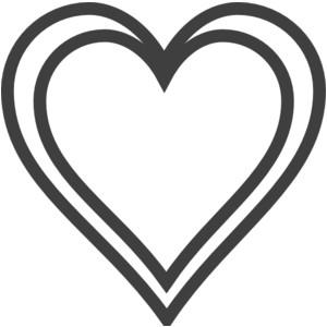 Clip Art; Heart Outline .