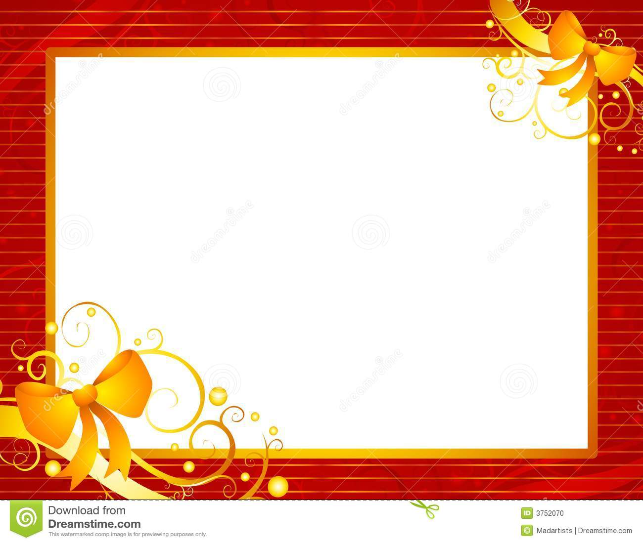 Clip Art Illustration Featuring A Red Striped Frame With Gold