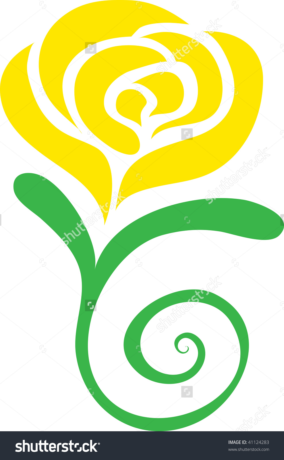 Clip art illustration of a yellow rose. Preview. Save to a lightbox