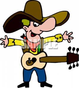 Clip Art Image: A Cowboy and .
