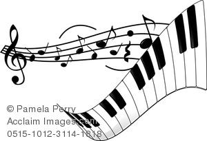 Clip Art Image of a Piano .