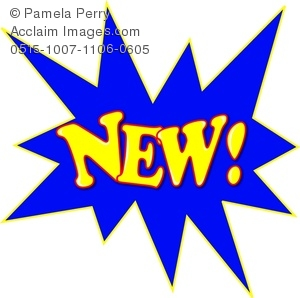 Clip Art Image of the Word NEW! in a Starburst