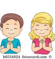 Clip Art. Kids Praying