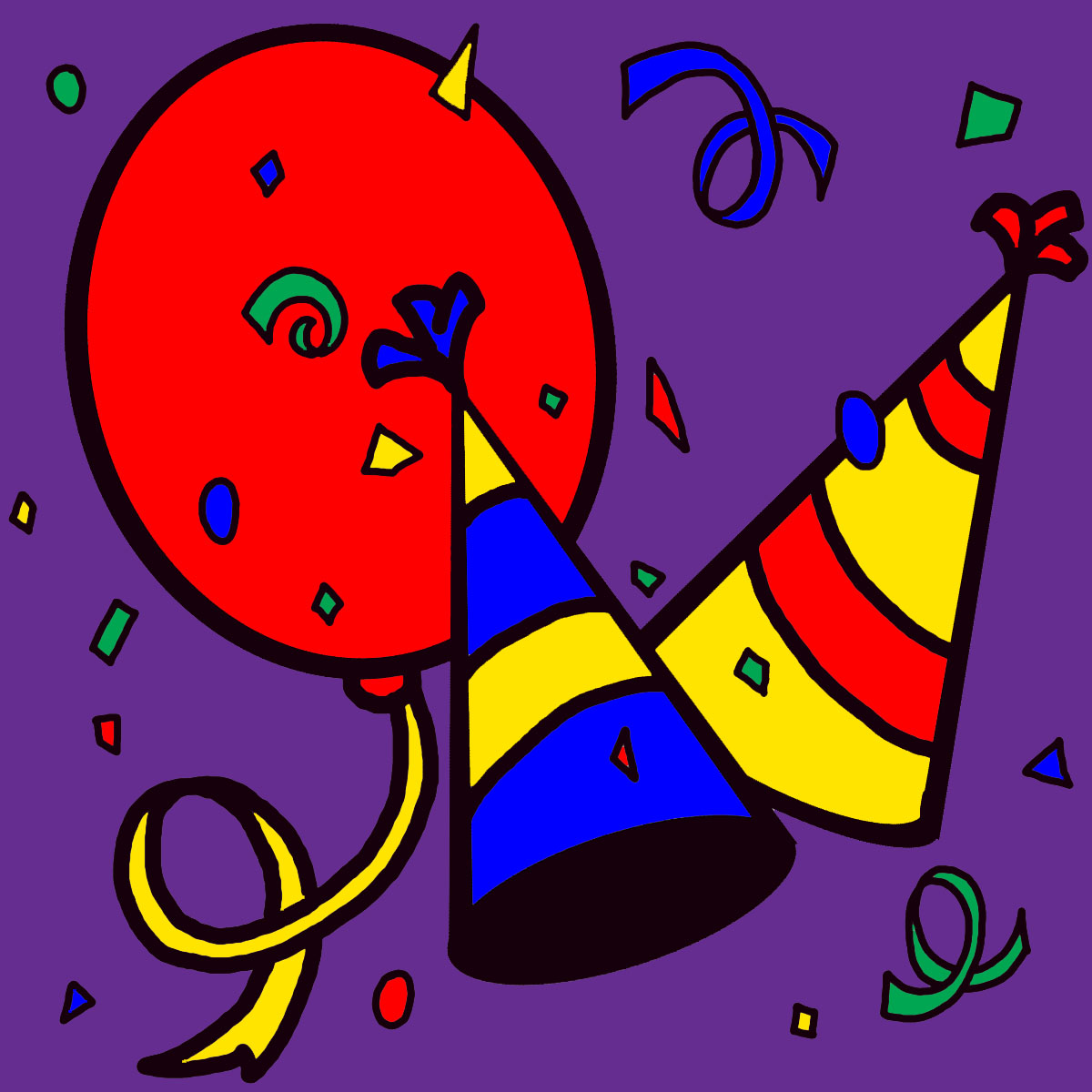 Clip Art New Year 1 Color 1 .