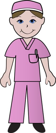 clip art nurses | Clip Art of a nurse wearing pink scrubs.