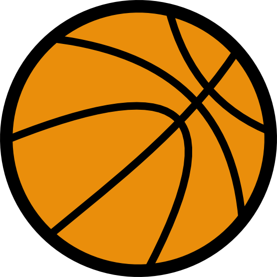 Clip Art Of A Basketball On Your Sports Or Basketball Projects This