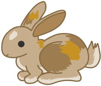 Clip Art Of A Brown Bunny Rab - Rabbit Clip Art