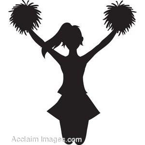 Clip Art of a Cheerleader .