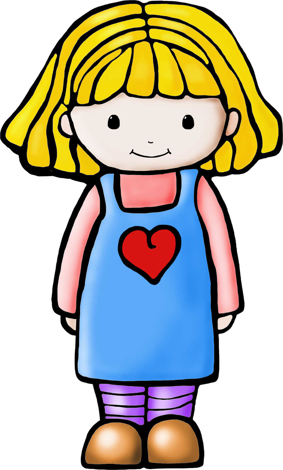 Clip art of a girl; Girl Clipart - Free Clipart Images ...