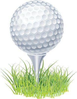 Clip Art of a Golf Ball on a .