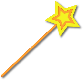 Clip Art Of A Magic Wand With A Yellow Star On The Top