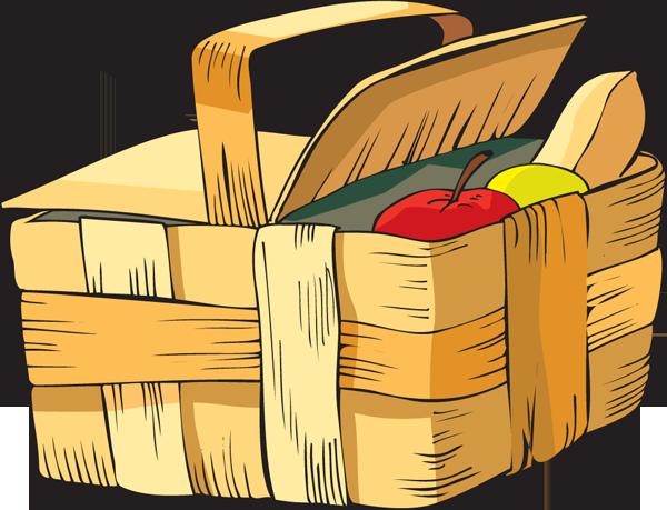 Clip Art Of A Picnic Basket Dixie Allan