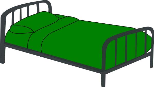 Clip Art Of Bed - Clipart library