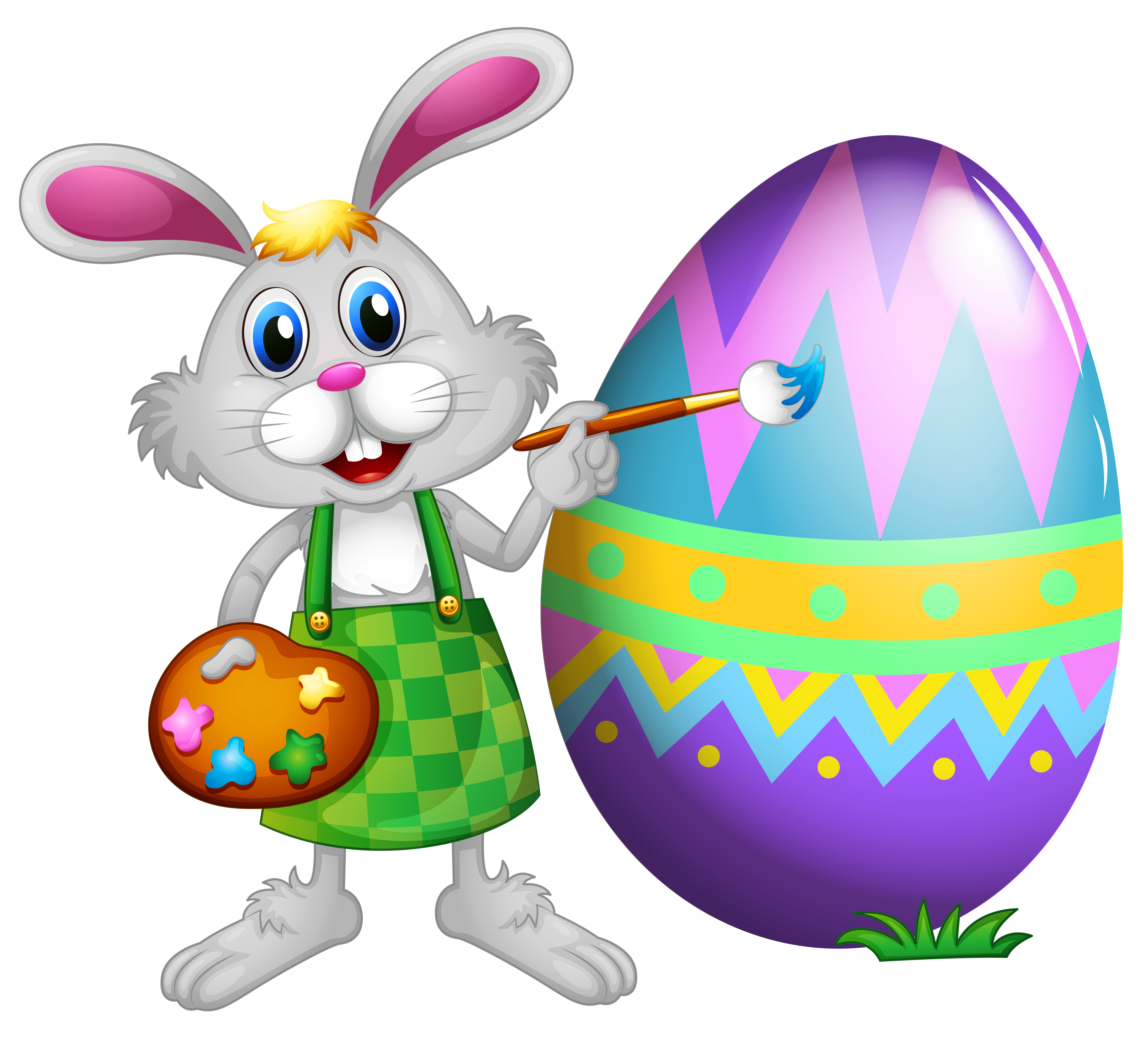 Clip Art Of Easter Bunny . - Easter Bunny Clipart