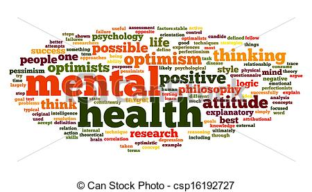 Clip Art Of Mental Health In Word Tag Cloud Mental Health Concept In