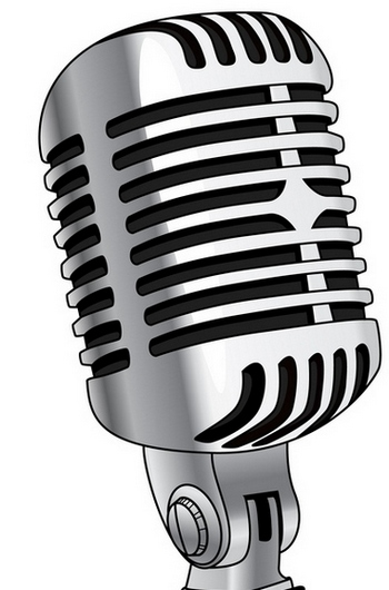 Clip Art Of Old Radio Mics .