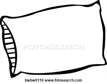 Clip Art Of Pillow BWBW0116 .