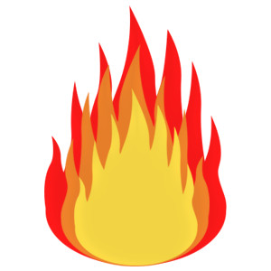 Clip art on fire clipart image