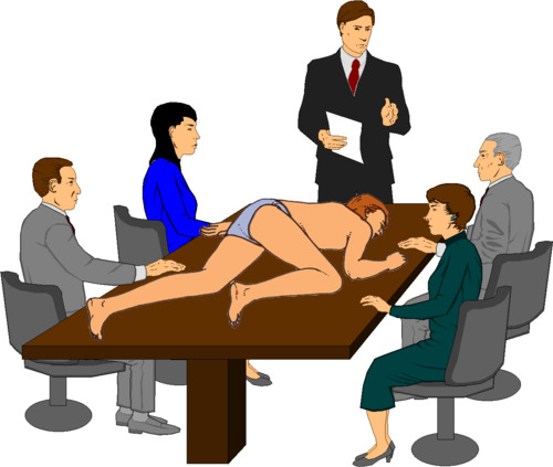 Clip art people meeting clipart image