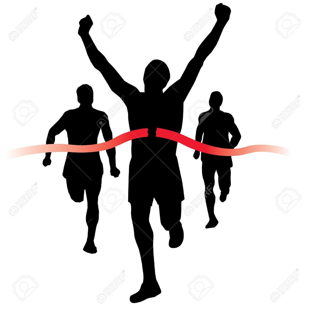 Clip Art Runners Finish Line .