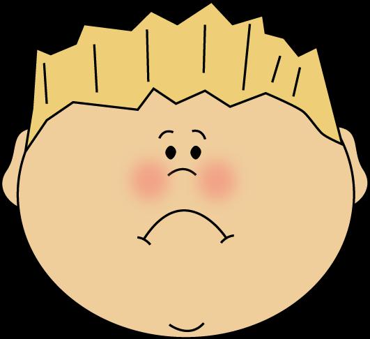 Clip Art Sad Face. Sad Face Boy