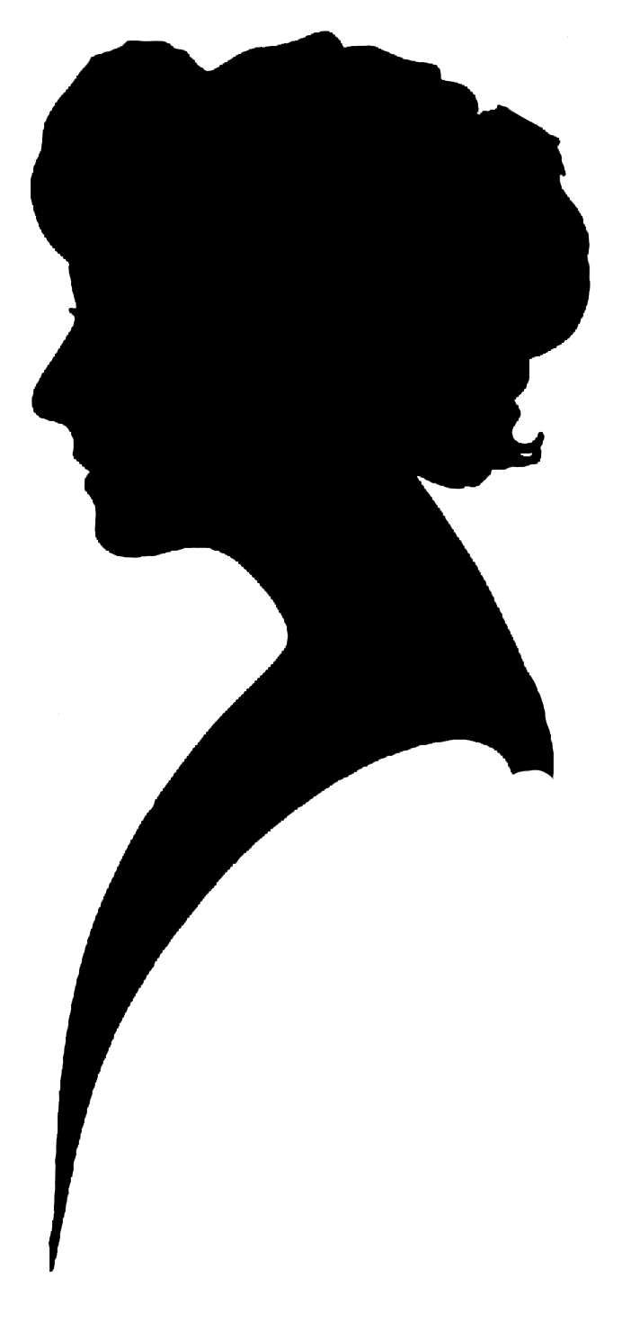 Clip Art Silhouette Female Heads Clipart