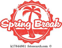 Clip Art. Spring Break Vacation Travel