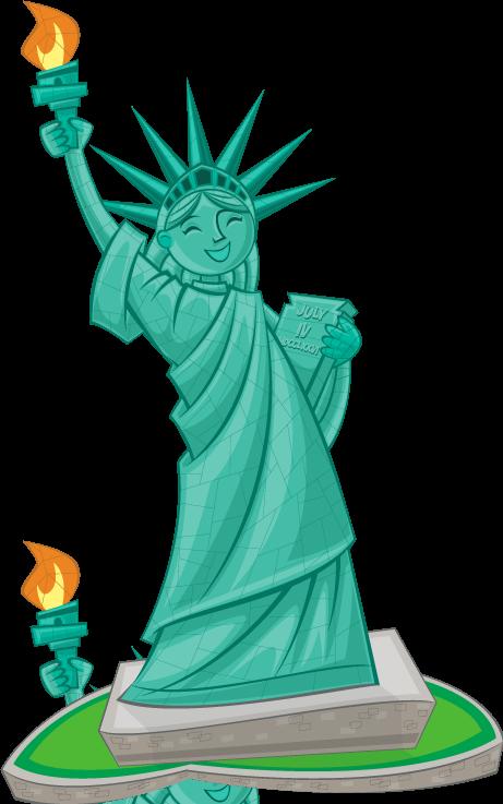 Clip Art Statue Of Liberty Clipart cute statue of liberty clipart clipartfox cartoon