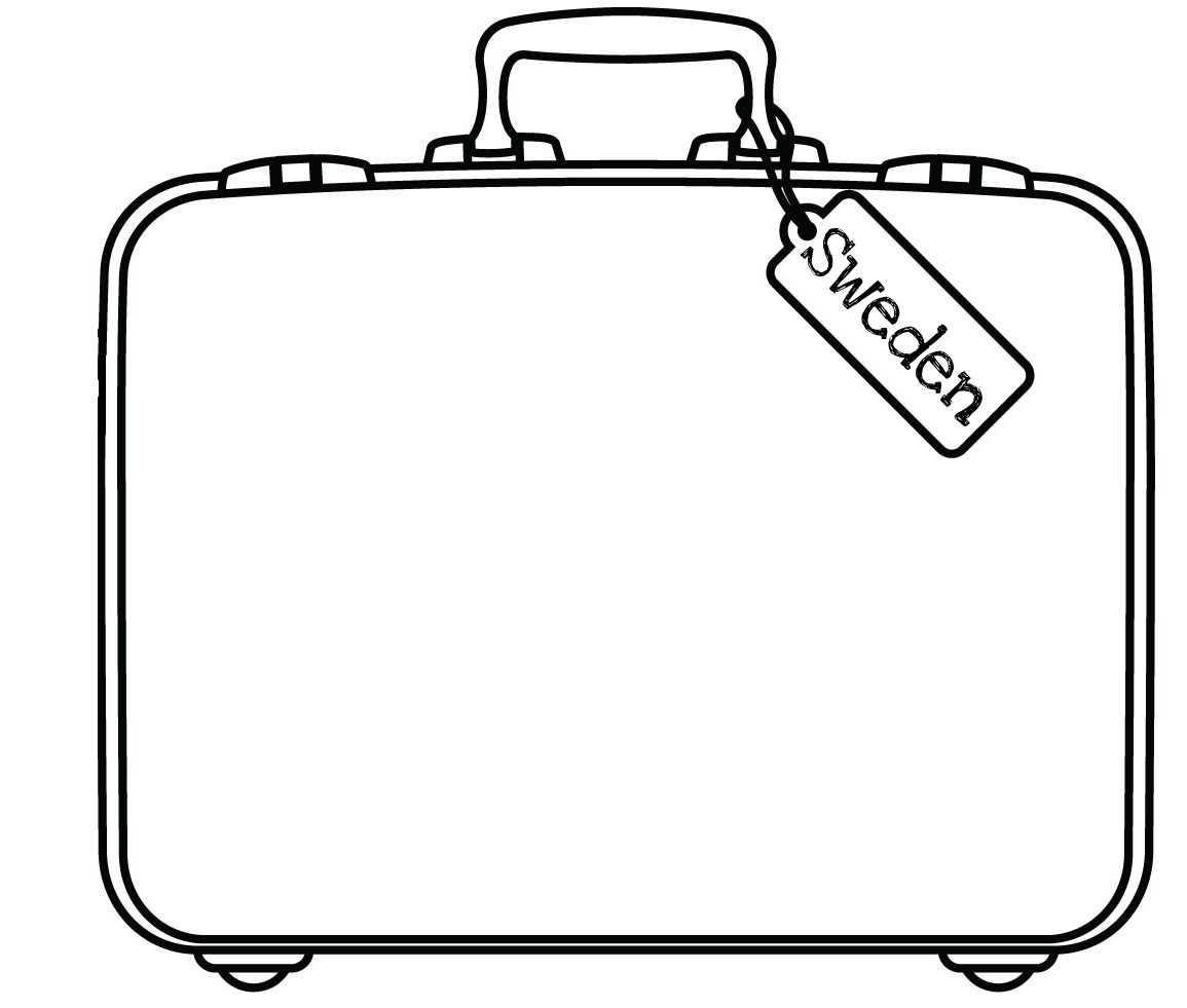 Clip art suitcase - .