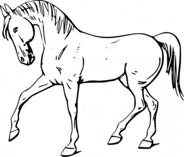 Clip art, Walking and Horses