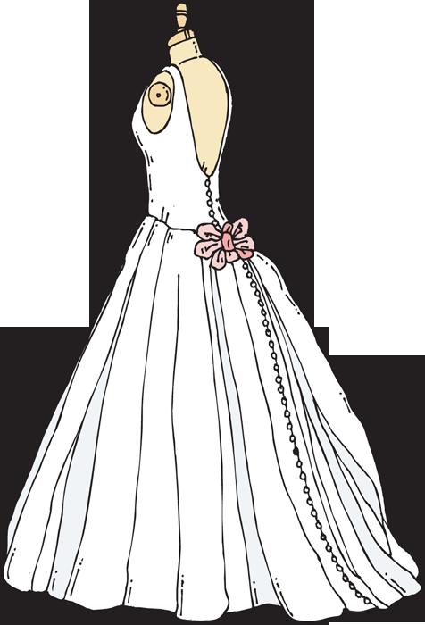 Clip Art Wedding Dress Clipart .