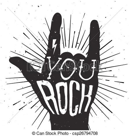 Clip Art You Rock. rock n roll concert vector .