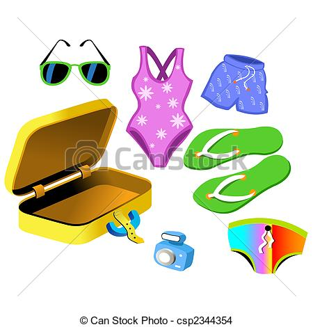 Clip Artby Millisenta1/181; Bathing Suits and travelling bag