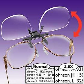 Clip N Flip Magnifying Glasses