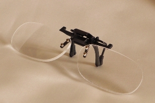 Clip on magnifying reading glasses