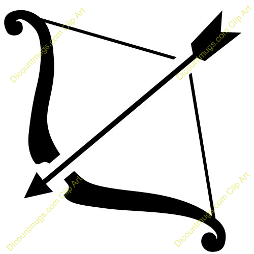 Clipart 11520 Bow And Arrow Bow And Arrow Mugs T Shirts Picture
