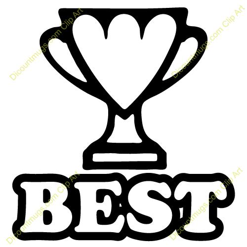 Clipart 12407 Best Trophy Best Trophy Mugs T Shirts Picture Mouse
