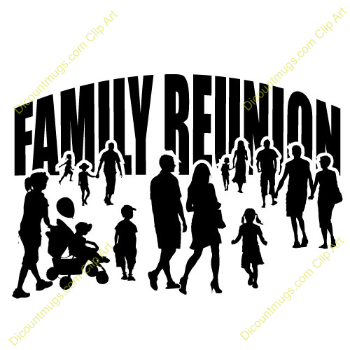 Clipart 12445 Family Reunion Family Reunion Mugs T Shirts Picture