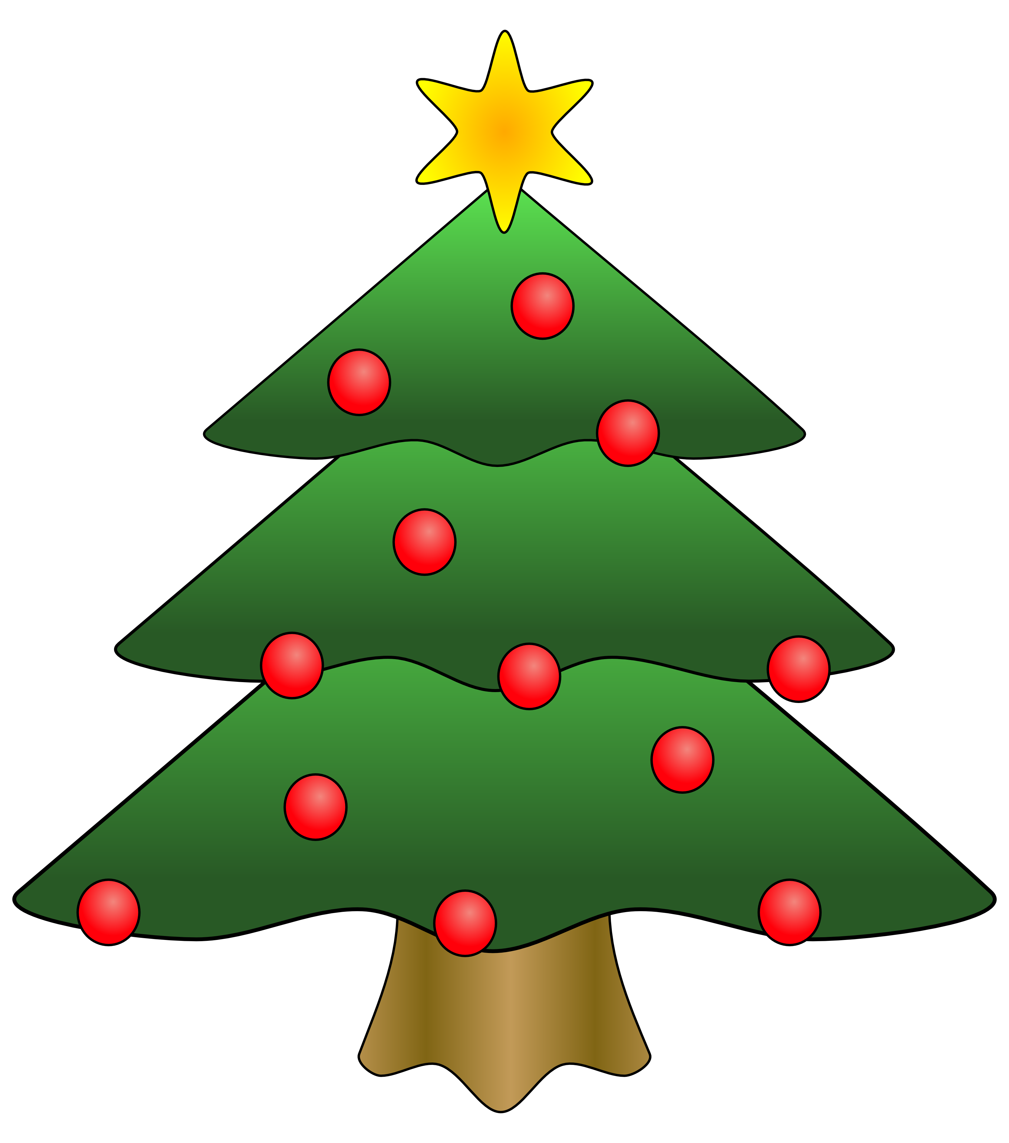 clipart christmas tree with presents
