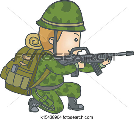 Clipart - Armed Soldier.