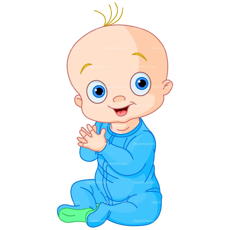 Clipart Baby Boy Clapping .