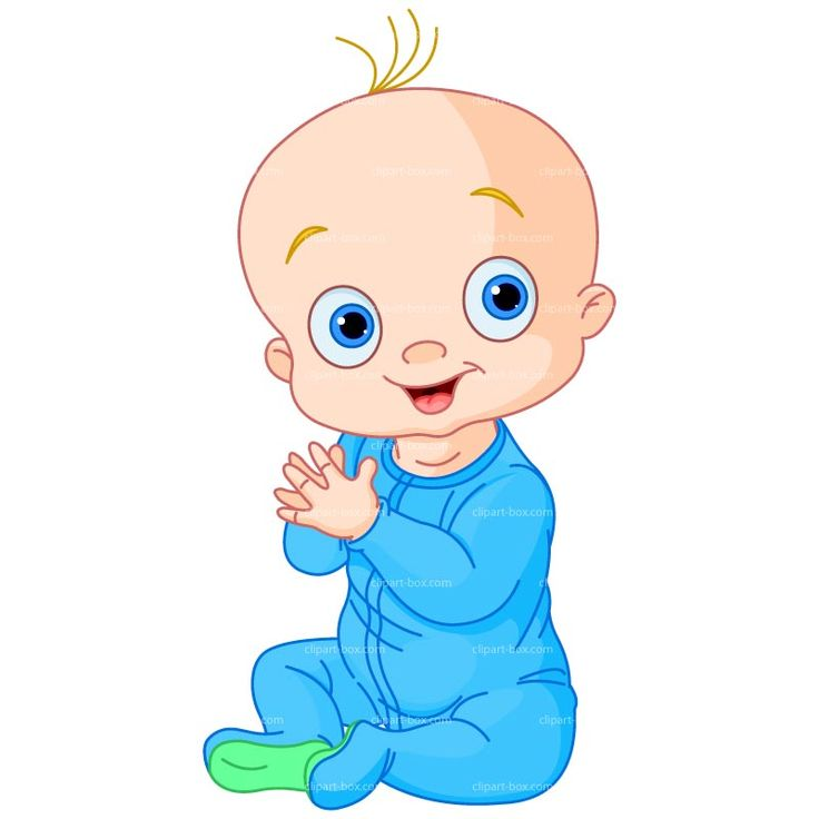 CLIPART BABY BOY CLAPPING | Royalty free vector design