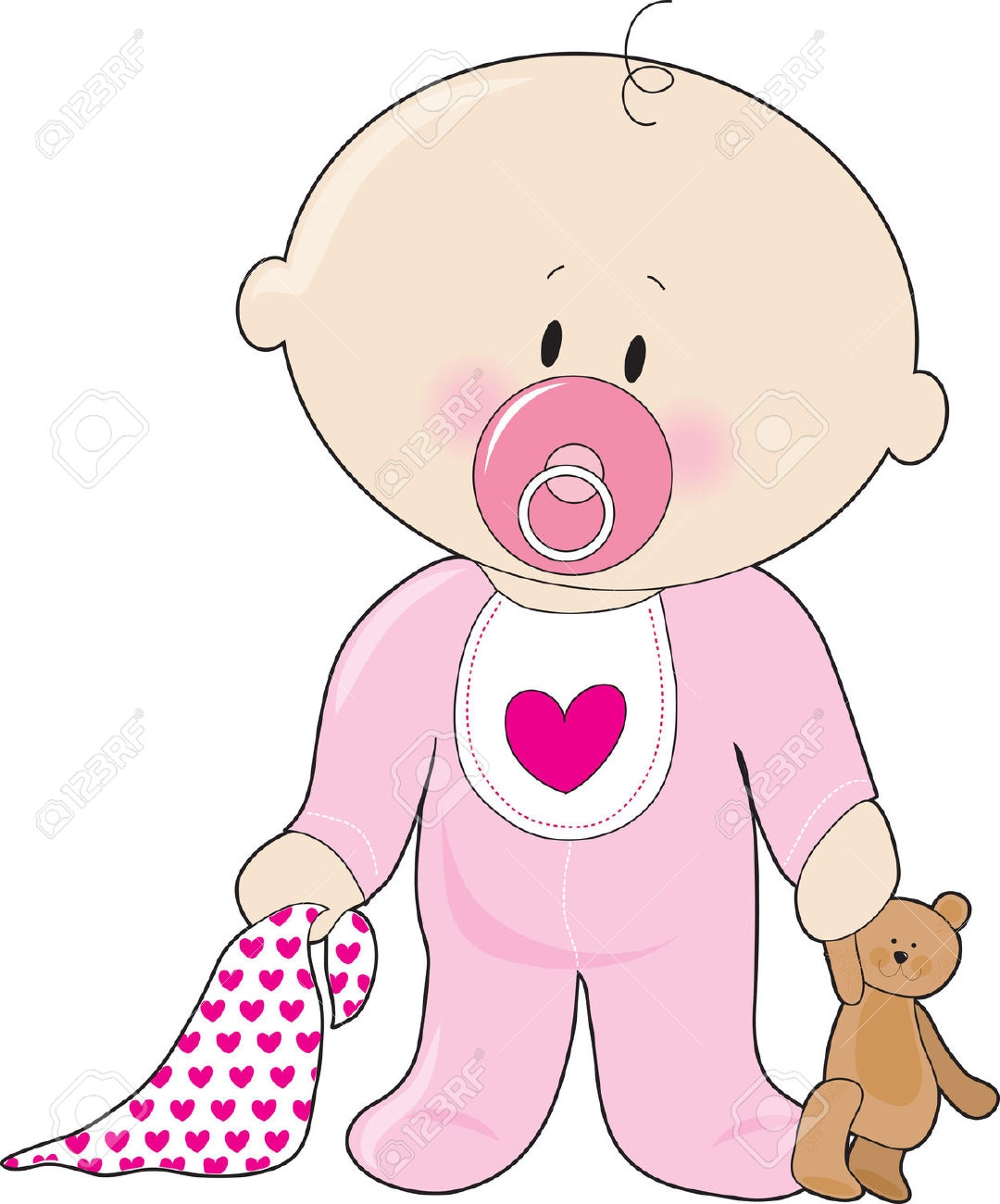 clipart baby girl