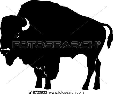 Clipart - Bison . Fotosearch - Search Clip Art, Illustration Murals, Drawings and Vector