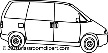 Clipart Black And White Delivery Van Clipart Black And White